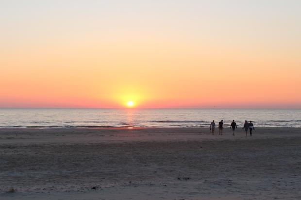 Løkken beach sunset