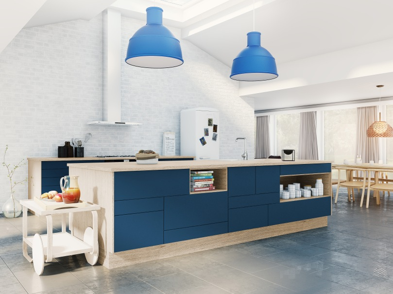 Bricks by DESIGNA_Lusso_Mørk blå køkken