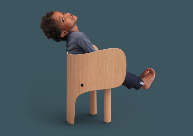 Elephant Chair with Boy