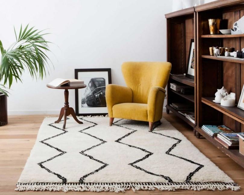 shaggy-tæpper-marokkanske-berber-design